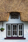 Irish thatched cottage windows close up Royalty Free Stock Images