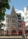Irish Times Pub building, Victoria, BC, Canada. VICTORIA, BC - CIRCA MAY 2014 - The former Bank of Montreal building is now home to the Irish Times Pub. It is a Royalty Free Stock Image