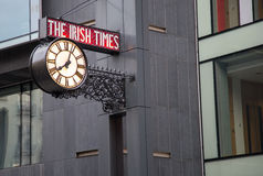 The Irish Times sign. The Irish Times newspaper head office in Dublin, Ireland Royalty Free Stock Images