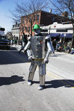 Irish Tin Man, St. Patrick's Day Parade, 2014, South Boston, Massachusetts, USA Royalty Free Stock Images