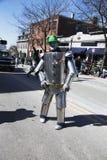 Irish Tin Man, St. Patrick's Day Parade, 2014, South Boston, Massachusetts, USA Royalty Free Stock Images