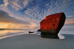 Irish Trader. Shipwreck near Drogheda, Co. Louth, Ireland Stock Photo