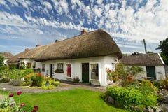 Irish traditional cottage house. Of Adare Stock Photo