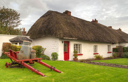 Irish traditional cottage house of Adare Royalty Free Stock Images