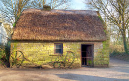 Irish traditional cottage house of Bunratty Royalty Free Stock Images