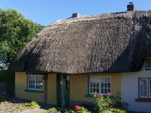 Irish traditional cottage houses. In the village of Adare Royalty Free Stock Image