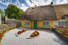 Irish traditional house. Irish traditional cottage house of Adare Royalty Free Stock Photography