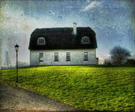 Irish Traditional Thatched Roof House Royalty Free Stock Photo