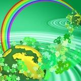 Irish Universe. View of a background illustrating St. Patrick's Day Celebration vector illustration