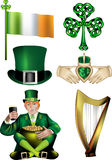 Irish Vector Illustrations Royalty Free Stock Images