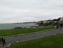Irish walkpath in Dun Laoghaire Royalty Free Stock Image