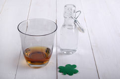Irish whiskey in a glass Royalty Free Stock Photos