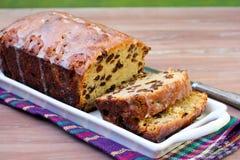Irish whisky cake. With raisin, sliced Royalty Free Stock Image