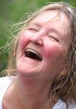 Irish woman. Irish woman expressions outside Stock Photos