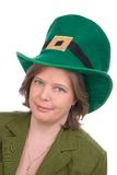 Irish woman with green hat Stock Photos