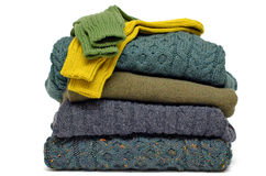 Irish wool knits Royalty Free Stock Photo