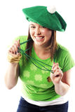 Irish young lady dressed for st patricks day Stock Photo