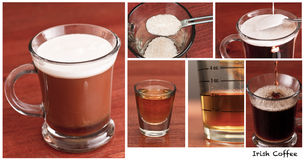 Irishcoffee, die Herstellung Stockfoto