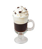 Irishcoffee solated auf Weiß Stockfoto