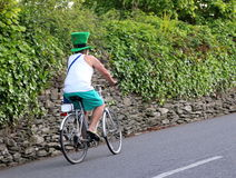 An Irishman in a green St. Patrick's Day hat. royalty free stock image