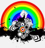 Irisierender abstrakter Hintergrund Stockfotos