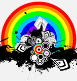 Irisierender abstrakter Hintergrund Stockfoto