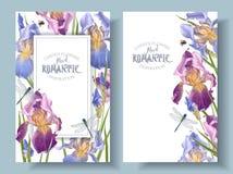 Irisvertikalenfahnen lizenzfreie abbildung