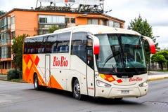 Irizar Century. TOCONAO, CHILE - NOVEMBER 22, 2015: Intercity coach Irizar Century in the town street royalty free stock photography