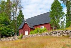 Irjanne, Eurajoki. Finland. Old red church Royalty Free Stock Photos