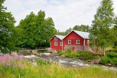 Irjanne, Eurajoki finland Oude molen en zaagmolen royalty-vrije stock foto