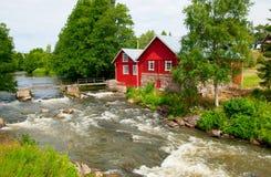 Irjanne, Eurajoki finland Oude molen en zaagmolen royalty-vrije stock afbeeldingen