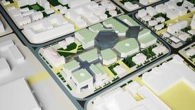 Irkoutsk complexe résidentiel (rendu 3d) Image stock