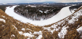 Irkut river panorama Stock Photo