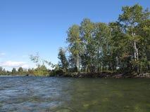 Irkut river, Sayan mountains, Siberia, Russia Royalty Free Stock Images