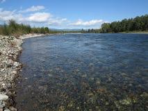 Irkut river, Sayan mountains, Siberia, Russia Royalty Free Stock Image