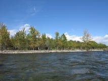 Irkut river, Sayan mountains, Siberia, Russia Stock Images