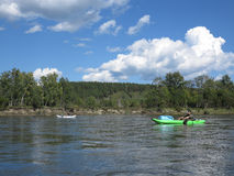 Irkut river, Sayan mountains, Siberia, Russia Royalty Free Stock Photos
