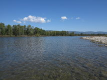 Irkut river, Sayan mountains, Siberia, Russia Royalty Free Stock Photo