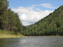 Irkut river, Sayan mountains, Siberia, Russia Royalty Free Stock Photography