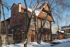Irkutsk. A casa dos arquitetos. Foto de Stock Royalty Free