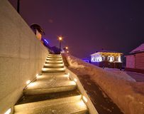 Irkutsk city at night Stock Photos