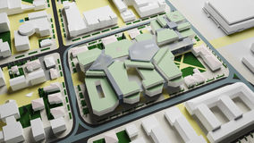 Irkutsk compleja residencial (representación 3d) Foto de archivo