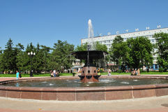 Irkutsk. Em uma fonte Fotografia de Stock