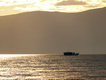 Irkutsk, Rússia - 24 de agosto de 2012: a natureza do Lago Baikal Imagens de Stock