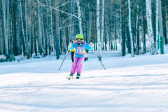 Irkutsk, Rússia - 12 de fevereiro de 2017: Competição do slalom snowboar Foto de Stock