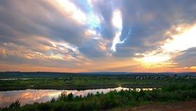 Irkutsk region. Tulun. Siberian nature. The River Ia. Royalty Free Stock Image