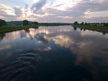 Irkutsk region. Tulun. Siberian nature. The River Ia. Stock Image