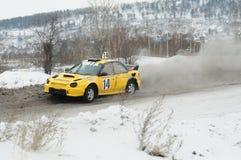 Irkutsk Rosja, Luty, - 18, 2017; Szlakowy ` Bokovo `, 1st scena filiżanka Rosja w autocross Obraz Stock