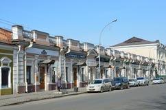 Irkutsk, Rosja, Marzec, 16, 2017 Dom budował przed rewolucją przy 41/1 Karl Marx ulicami w Irkutsk Obrazy Stock