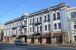 Irkutsk, Rosja, Marzec, 16, 2017 Szkoła muzyka na Karl Marx ulicie, 28 czerep Przed rewolucją był Handlarski dom o Zdjęcie Royalty Free